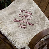 Personalized Anniversary Afghans - Happy Anniversary - 12426