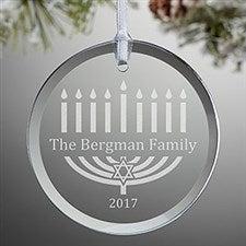 Personalized Hanukkah Ornament - Menorah - 12428