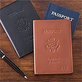 Personalized Leather Passport Covers - 12430