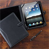 Personalized Leather iPad Case - Black - 12431