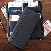 Personalized Travel Ticket Case - Black - 12432