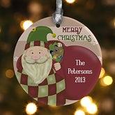 Personalized Santa Claus Christmas Ornaments - 12435