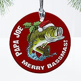 Personalized Christmas Ornaments - Fisherman - 12436