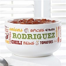Personalized Chili Bowls - Chili Today - 12439