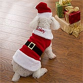 Personalized Dog Santa Suit - 12446