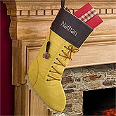 Personalized Christmas Stockings - Work Boot - 12450