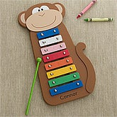 Personalized Kids Xylophone - Jungle Monkey - 12459