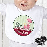Personalized First Christmas Baby Bibs - Precious Moments - 12463