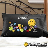 Personalized Smiley Face Pillowcases - Black - 12465