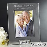 Personalized Wedding Anniversary Crystal Picture Frame by Orrefors - 12466
