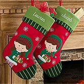 Personalized Christmas Stockings for Girls - Santa's Helper