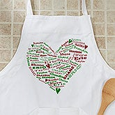 Personalized Christmas Apron - Her Heart Of Love - 12475