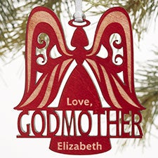 Personalized Christmas Ornaments - Godparent Angel - 12480