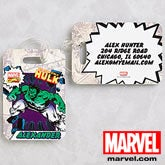 Personalized Marvel Superheroes Luggage Tags - Wolverine, Spiderman, Hulk  - 12491