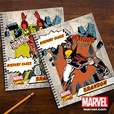 Personalized Marvel Superhero Noteboooks - Spiderman, Wolverine, Iron Man, Hulk - 12492