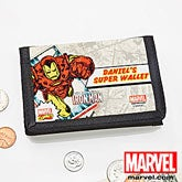 Personalized Marvel Comics Wallets - Spiderman, Wolverine, Iron Man, Hulk - 12493