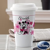 Personalized Mickey Mouse & Minnie Mouse Travel Mug - You're Sweet - 12504