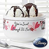 Personalized Mickey Mouse & Minnie Mouse Bowls - You're Sweet - 12505