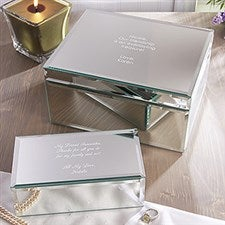 Personalized Mirrored Jewelry Boxes - Your Own Message - 12507
