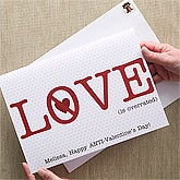 Personalized Anti-Valentine's Day Card - Love Is Over Rated - 12530