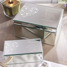 Love Is Kind Personalized Mirrored Jewelry Boxes - 12538