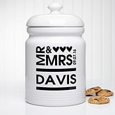 Personalized Cookie Jars - Mr and Mrs - 12541