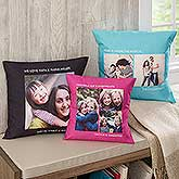 Personalized Photo Throw Pillows - 12552