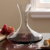 Personalized Captains Wine Decanter with Engraved Monogram - Luigi Bormioli - 12561