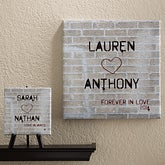 Personalized Romantic Canvas Art - Graffiti Love - 12562