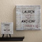 Personalized Romantic Canvas Art - Graffiti Love - 12562