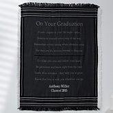 Personalized Graduation Throw Blanket - Striped - 12567