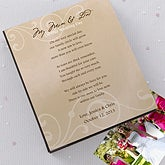 Personalized Wedding Photo Album for Parents - 12568