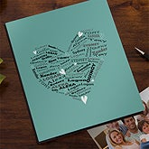 Personalized Photo Albums - Her Heart of Love - 12571