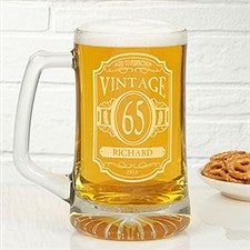Personalized Birthday Beer Mugs - Vintage Classic - 12575