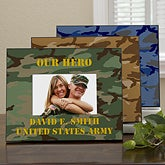 Personalized Military Camo Picture Frames - 12595
