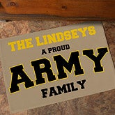 Personalized Military Home Doormat - 12597