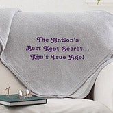Personalized Birthday Blankets - Birthday Greetings - 12600