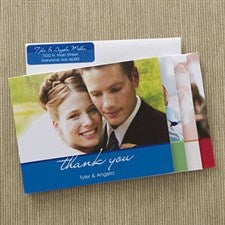 Personalized Wedding Photo Thank You Cards - 12602