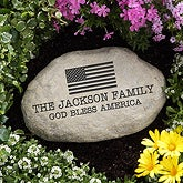 Personalized Garden Stones - American Flag - 12604