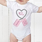 Personalized Baby Clothes - New Recruit Dog Tags - 12609