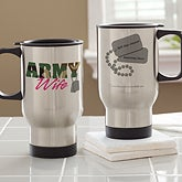Personalized Travel Mugs - Army & Navy Supporter - 12610