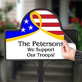 Personalized Yard Stakes - Support Our Troops - 12612