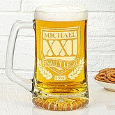 Personalized Birthday Beer Mugs - Brewmasters - 12622
