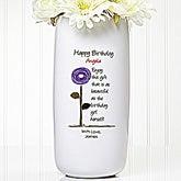 Personalized Birthday Flower Vase - Birthday Blooms - 12628