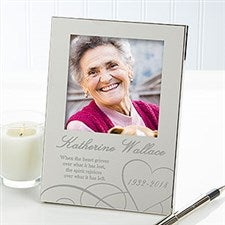 Personalized Silver Memorial Picture Frame - Remembering - 12629