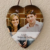 Personalized Photo Wall Plaque - Slate Heart - 12631