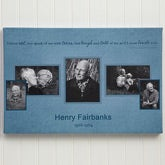 Personalized Memorial Photo Collage Canvas Print - Wonderful Life - 12637
