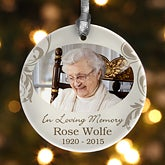 Personalized Photo Christmas Ornament - In Loving Memory - 12642