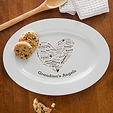 Personalized Serving Platters - Her Heart of Love - 12660