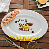 Personalized Serving Platters - King of the Grill - 12663